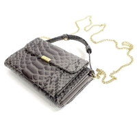Клатч-портмоне со змеиным принтом