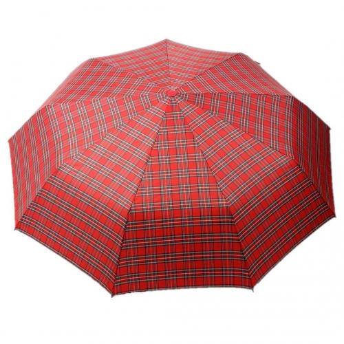 Зонт-полуавтомат в клетку
