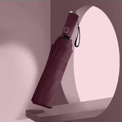 Зонт-автомат бордовый