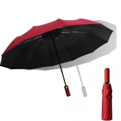 Однотонный зонт-автомат